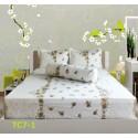 Bộ Drap Cotton Nhiều Họa Tiết Hometex -1.8x2m