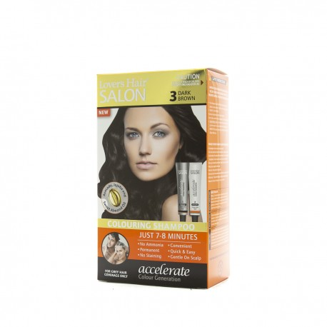 Lover's Hair Salon 3 Dark Brown - 2x60ml