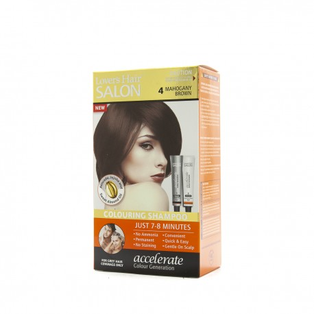 Lover's Hair Salon 4 Lover's Hair Mahogany Brown-2x60ml