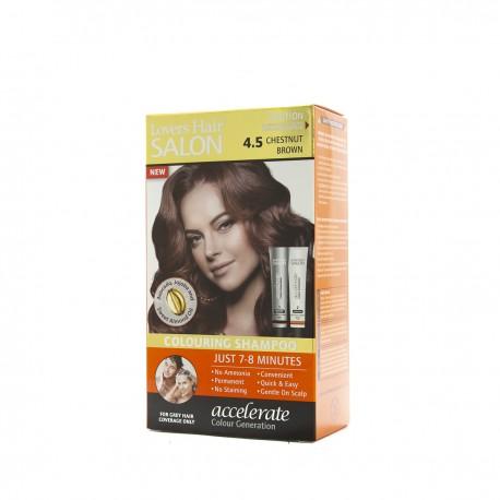 Lover's Hair Salon 4.5 Chestnut Brown-2x60ml