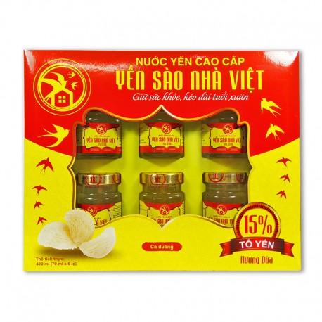 Combo 10 Hộp Nước Yến Sào Nhà Việt 15% Hương Dừa