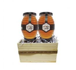 Giỏ Quà Mật Ong Hoa Xuyến Chi Honeyland 2hux500g