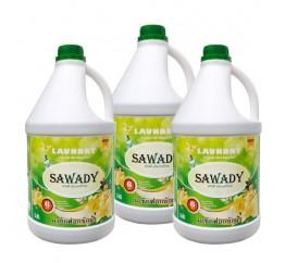 Bộ 3 can Nước giặt xả Sawady 6 trong 1 Golden Fresh 3,8 lít