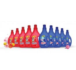 Bộ 10 chai nước giặt chống lem màu và nước giặt trắng sáng Kolortex - 10 chai x 1 lít