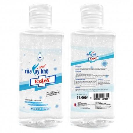 Gel rửa tay khô thiên nhiên không mùi Eztex 150ml