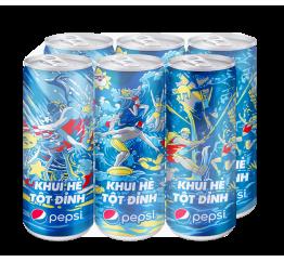 S-NGK Pepsi lon cao 6x330ml