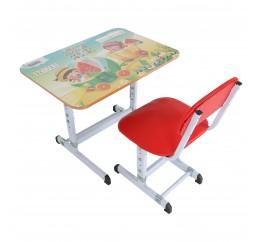 Bộ bàn ghế học sinh cánh lật Qui Phúc QP-127
