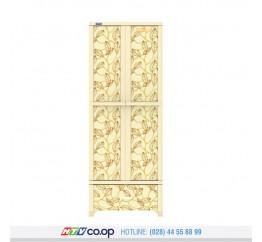 Tủ Nhựa Wing L – 1N Duy Tân - Màu Kem Lá Vàng