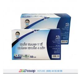 Khẩu trang y tế kháng khuẩn 4 lớp An Bình - 50 cái - Màu xám