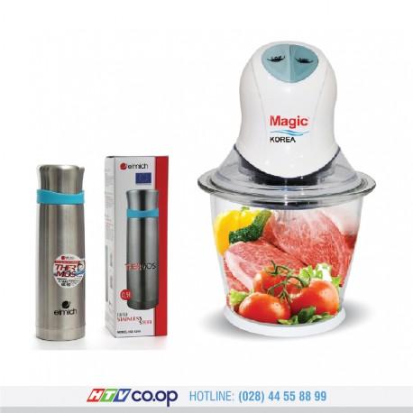 Bộ Máy xay thực phẩm Magic A-04 + Bình Giữ Nhiệt Inox Elmich EL6386