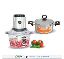 Bộ Máy xay thực phẩm Mishio + Nồi canh oxy hóa mềm Supor S30A20