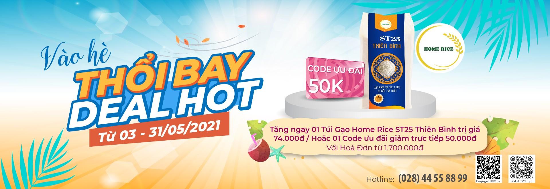 Chương trình tháng 5: Banner Vào Hè Thổi Bay Deal Hot