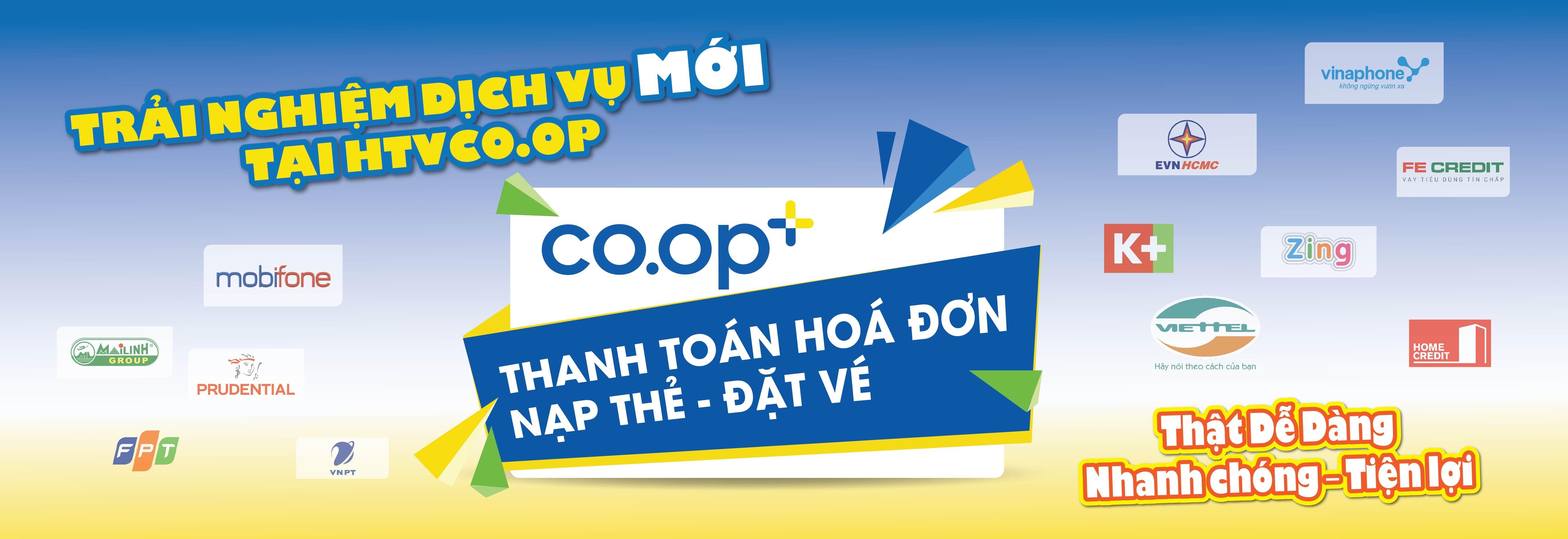 Trải nghiệm Thanh Toán Tiện Ích Trên Coop+ Tại HTV Coop